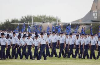 US Air Force base near San Antonio, Texas, part of Air Education and Training Command