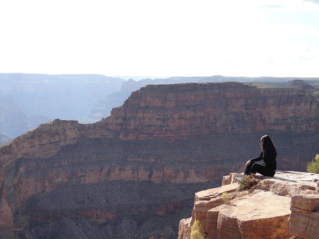 Lady enjoying Grand Canyon West Rim, AZ, USA (9534033719)