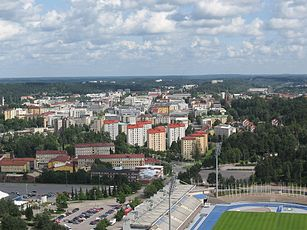 View of the center of Lahti