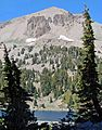 Lake Helen and Eagle Peak, Lassen Volcanic NP, 9-06 (In Explore) (24396301134).jpg