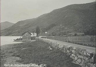 Jølstra - An early photo of Lake Jølstravatn, taken in 1934.