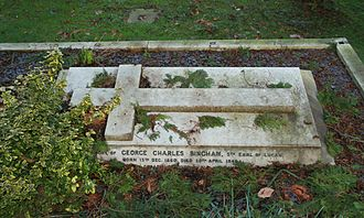 George Bingham, 5th Earl of Lucan - Grave of the 5th Earl of Lucan in All Saints' parish churchyard, Laleham, Middlesex
