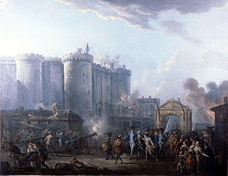 Paris - The storming of the Bastille on 14 July 1789, by Jean-Baptiste Lallemand, (Musée de la Révolution française)
