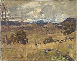 Michelago - George Lambert. Michelago Landscape. 1923