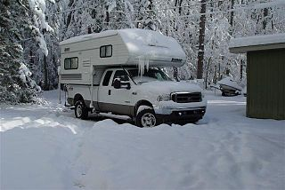 Truck camper type of vehicle