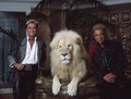 Las Vegas, Nevada's headlining illusionists Siegfried & Roy (Siegried Fischbacher and Roy Horn) in their private apartment at the Mirage Hotel on the Vegas Strip, along with one of their LCCN2011634014.tif