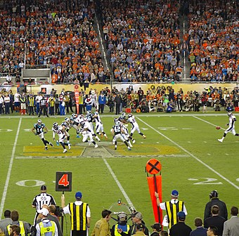 The last punt of Super Bowl 50 Last Punt of Super Bowl 50.jpg