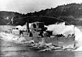 Launch of USS Jenks (DE-665) at the Dravo Corporation, Pittsburgh, Pennsylvania (USA), 11 September 1943 (80-G-207986).jpg