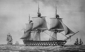 French ship Conquérant (1812) - Image: Le 80 canons le conquc 3a 9rant