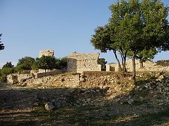 """Laudun-l'Ardoise - The """"Camp de César"""", an Ancient Roman site."""