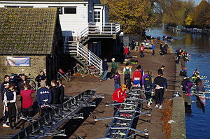 Rowing club - Lea Rowing Club, a local club on the Lea Navigation in London