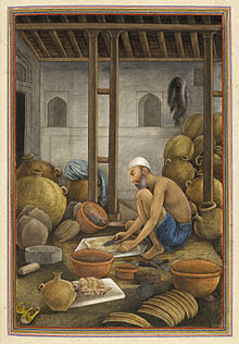 Leather-bottle makers. - Tashrih al-aqvam (1825), f.360v - BL Add. 27255.jpg