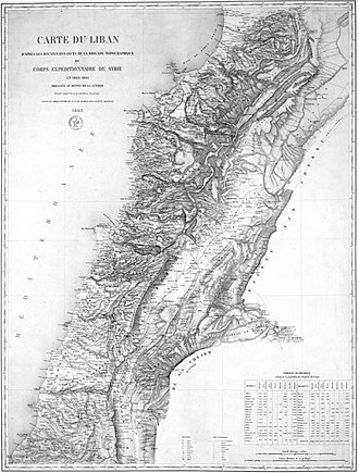 French Mandate for Syria and the Lebanon - Image: Lebanon as envisaged by French General Charles Marie Napoléon de Beaufort d'Hautpoul Beaufort d'Hautpoul in 1862