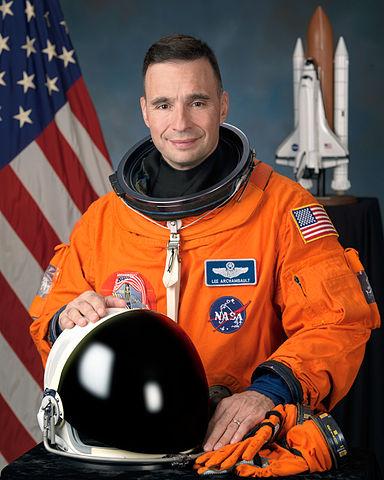 Astronaut Lee J. Archambault, STS-119 commander, NASA photo (13 May 2009) Source: Wikipedia (spaceflight.nasa.gov killed 25 Feb 2021) 384px-Lee_Archambault_2009.jpg