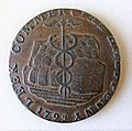 Leek commercial half penny token of 1793, Staffordshire.jpg