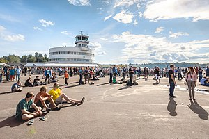Finland International Airshow 2014 drew more than 50.000 spectators to Helsinki-Malmi Airport.