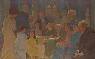 Zebranie członków Komitetu Generalnego Pomocy Ofiarom Wojny w Polsce, w Vevey w Szwajcarii