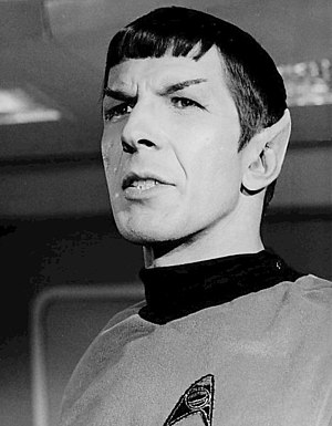Development of Spock - Leonard Nimoy as Spock, from a 1967 Star Trek publicity photo