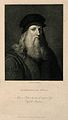 Leonardo da Vinci. Line engraving by C. Warren, 1824. Wellcome V0006062ER.jpg