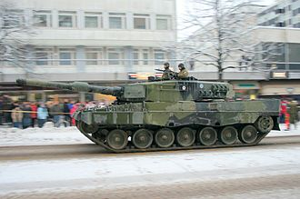 Finnish Army - Finnish Leopard 2A4 at the Independence Day Parade.