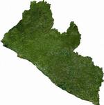 Liberya'nın uydu görüntüsü