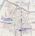 Libraries in Toyama city OSM.png