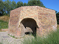 A preserved lime kiln in Burgess Park, London