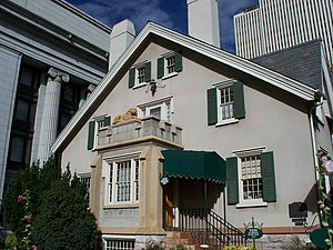 Lion House (Salt Lake City) - The Lion House was built in 1856 by Brigham Young in Salt Lake City, Utah