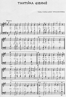 Lithuanian national anthem sheet music.jpg