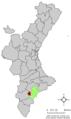 Localització d'Agost respecte el País Valencià.png
