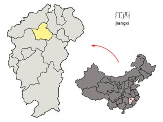 Nanchang uprising - Location of Nanchang in China