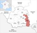 Locator map of Kanton La Châtre 2019.png