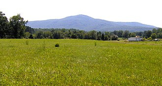 Lone Mountain State Forest - Lone Mountain, rising above central Morgan County