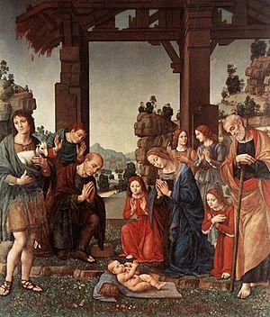 Adoration of the Shepherds (Lorenzo di Credi) - Image: Lorenzo di credi, adorazione di pastori