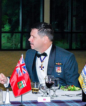 Mess dress - Lt Gen Pierre St Amand wearing the RCAF winter mess dress.