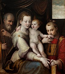 The Holy Family with St. Stephen