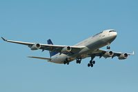 Lufthansa Airbus A340-300 D-AIGB Toronto Pearson International Airport.jpg