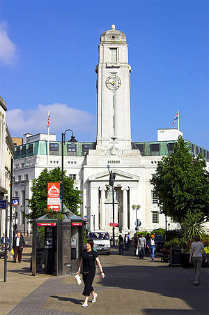 Luton Town Hall - The current Town Hall, from George Street, Luton