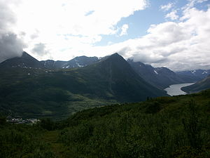 Lyngen - Lyngseidet, southern Lyngen Alps, and Kjosen fjord