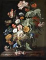 Målning. Blomsterstycke. Rachel Ruysch - Hallwylska museet - 86742.tif