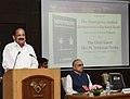 "M. Venkaiah Naidu addressing at an event to release the Hindi, Gujarati, Telugu and Kannada editions of the book titled ""The Emergency - Indian Democracy's Darkest Hour"", authored by the Chairman, Prasar Bharati (1).JPG"