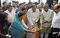 M. Venkaiah Naidu along with the Chief Minister of Uttarakhand, Shri Trivendra Singh Rawat lighting the lamp at the inaugural function on the newly constructed studio complex of All India Radio and Doordarshan Kendra.jpg