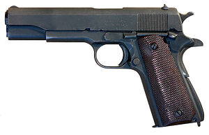 M1911A1 pistol manufactured by Remington Rand
