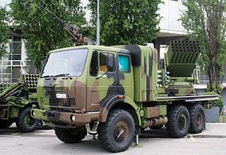 M-77 Oganj Self-propelled multiple rocket launcher