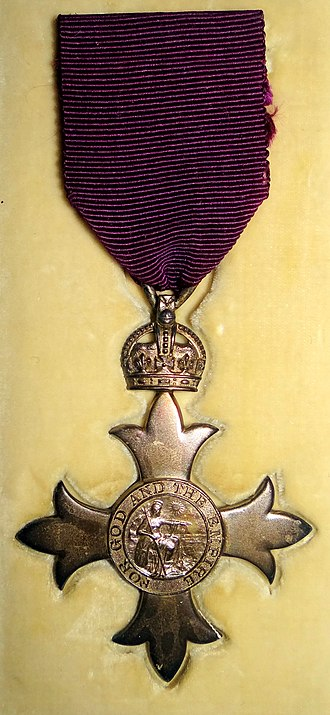 Order of the British Empire - MBE (civil division) as awarded in 1918