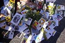 Messages from Spain, Mexico, Peru, Chile, Colombia, Venezuela and Brazil dropped off at Michael Jackson's star on the Hollywood Walk of Fame on his first anniversary of death.