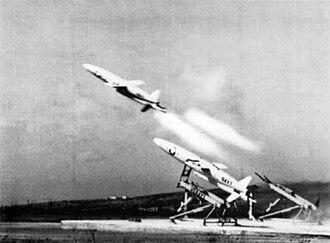 Northrop BQM-74 Chukar - A U.S. Navy MQM-74A launch, 1972.