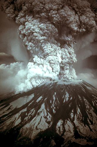1980 eruption of Mount St. Helens - Photograph of the eruption column, May 18, 1980
