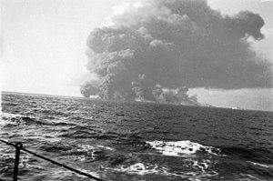 MV Waimarama explodes.jpg