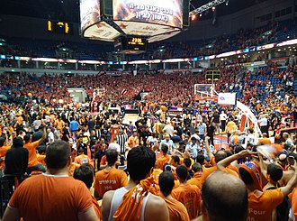 Maccabi Rishon LeZion (basketball) - Maccabi Rishon celebrates its first ever championship in Pais Arena Jerusalem.